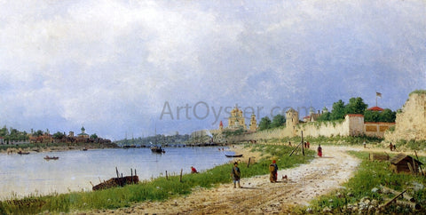 Piotr Petrovitsch Veretschchagin View of Pskov along the River Velikaja - Hand Painted Oil Painting