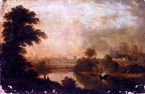 John Glover A View of Ripon Cathedral From Across The River Ure - Hand Painted Oil Painting