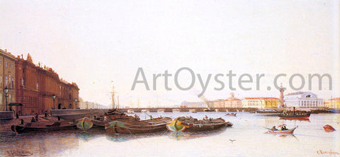 Piotr Petrovitch Weretshchagin A View of St. Petersburg - Hand Painted Oil Painting
