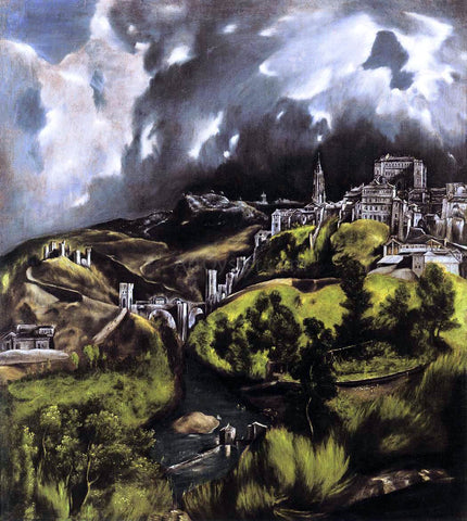 El Greco A View of Toledo - Hand Painted Oil Painting