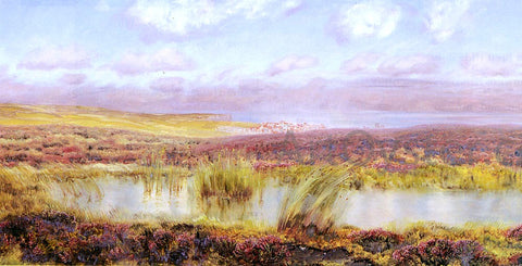 John Brett A View Of Whitby From The Moors - Hand Painted Oil Painting