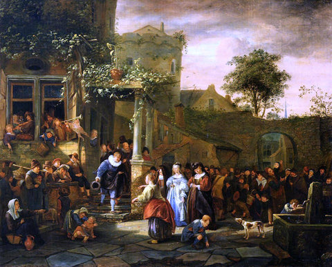 Jan Steen A Village Wedding - Hand Painted Oil Painting