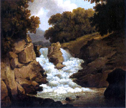 Robert Salmon A Waterfall - Hand Painted Oil Painting