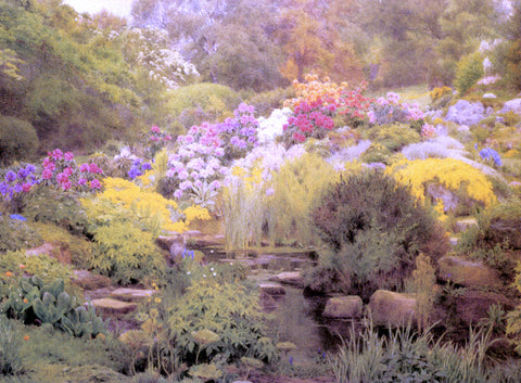 George Marks A Watergarden - Hand Painted Oil Painting