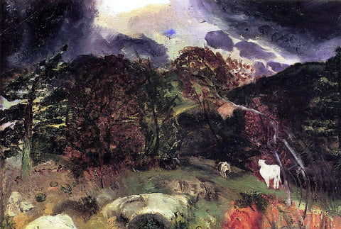George Wesley Bellows A Wild Place - Hand Painted Oil Painting