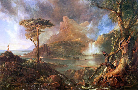 Thomas Cole A Wild Scene - Hand Painted Oil Painting