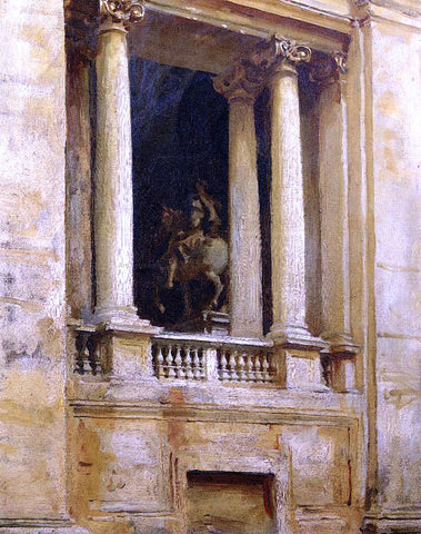 John Singer Sargent Window in the Vatican - Hand Painted Oil Painting