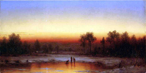 Sanford Robinson Gifford A Winter Twilight - Hand Painted Oil Painting