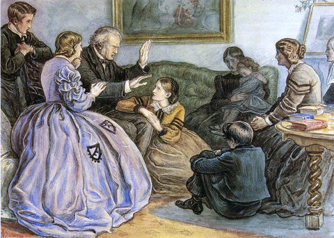 Sir Everett Millais A Winter's Tale - Hand Painted Oil Painting