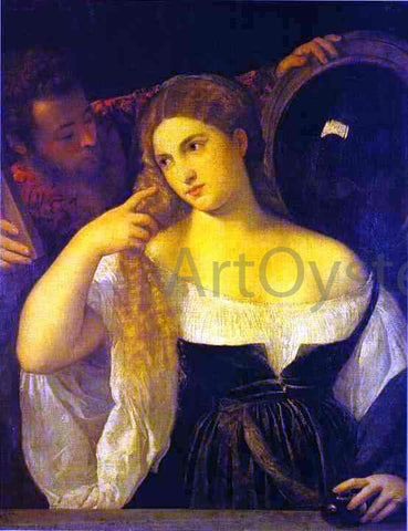 Titian A Woman at Her Toilet - Hand Painted Oil Painting