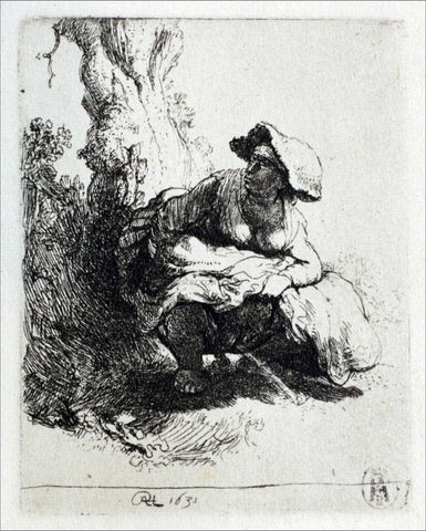 Rembrandt Van Rijn Woman Beneath a Tree - Hand Painted Oil Painting