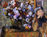 Edgar Degas A Woman Seated Beside a Vase of Flowers (also known as Sardela) - Hand Painted Oil Painting