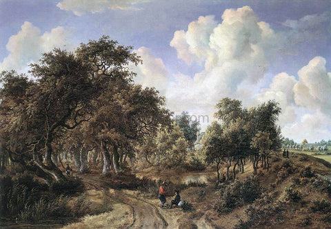 Meyndert Hobbema A Wooded Landscape - Hand Painted Oil Painting
