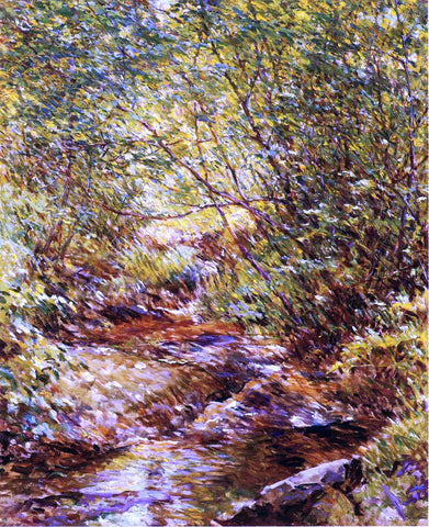 Robert Lewis Reid A Woodland Stream - Hand Painted Oil Painting