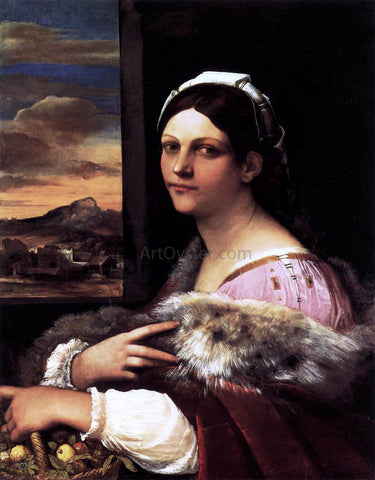Sebastiano Del Piombo A Young Roman Woman - Hand Painted Oil Painting