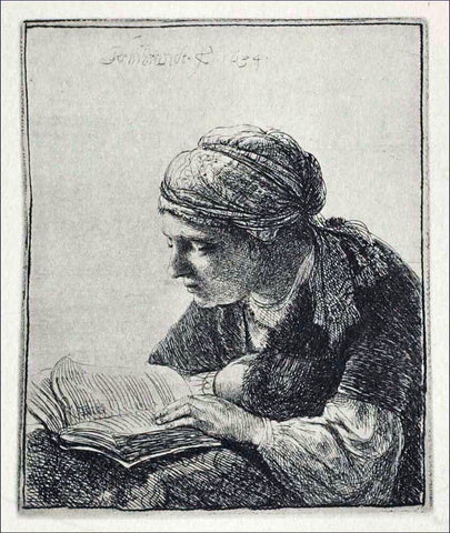 Rembrandt Van Rijn Young Woman Reading - Hand Painted Oil Painting