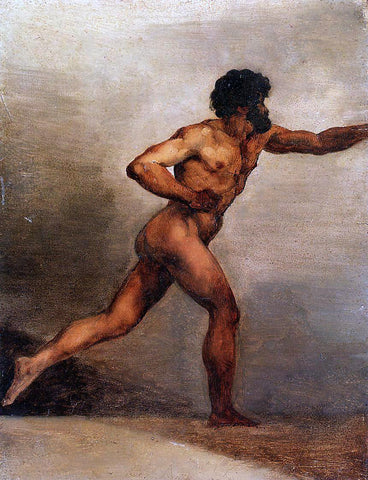 Theodore Gericault Academic Study of a Man - Hand Painted Oil Painting