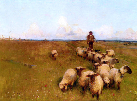 Walter Frederick Osborne Across The Downs - Hand Painted Oil Painting