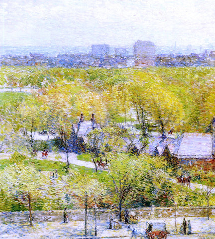 Frederick Childe Hassam Across the Park - Hand Painted Oil Painting