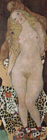 Gustav Klimt Adam and Eve (unfinished) - Hand Painted Oil Painting