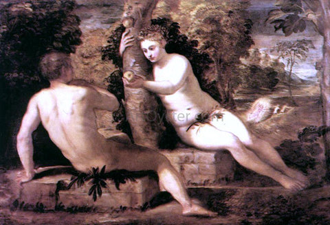 Jacopo Robusti Tintoretto Adam and Eve - Hand Painted Oil Painting