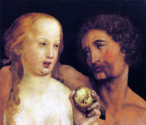 The Younger Hans Holbein Adam and Eve - Hand Painted Oil Painting