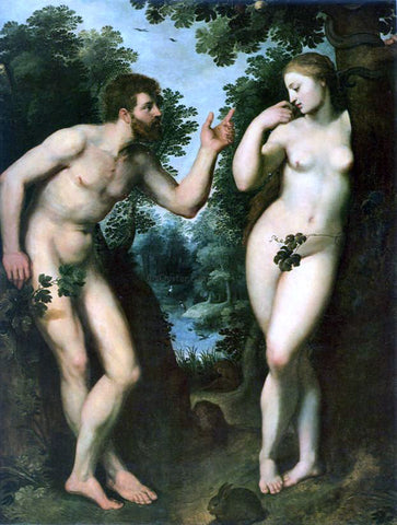 Peter Paul Rubens Adam and Eve - Hand Painted Oil Painting
