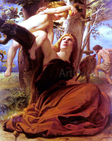 Edward Jakob Von Steinle Adam and Eve after the Fall - Hand Painted Oil Painting