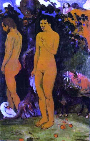 Jules Trayer Adam and Eve - Hand Painted Oil Painting