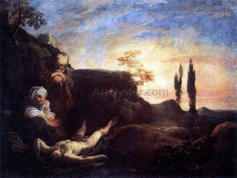 Johann Liss Adam and Eve Mourning for Abel - Hand Painted Oil Painting