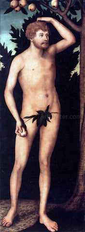 The Younger Lucas Cranach Adam - Hand Painted Oil Painting