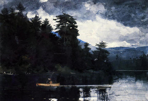 Winslow Homer Adirondack Lake - Hand Painted Oil Painting