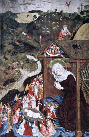 Master of the Polling Panels Adoration of the Child - Hand Painted Oil Painting