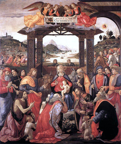 Domenico Ghirlandaio Adoration of the Magi - Hand Painted Oil Painting