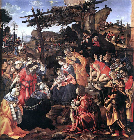 Filippino Lippi Adoration of the Magi - Hand Painted Oil Painting