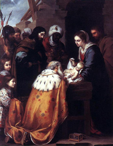 Bartolome Esteban Murillo Adoration of the Magi - Hand Painted Oil Painting