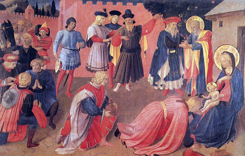Fra Angelico Adoration of the Magi (Linaioli Tabernacle) - Hand Painted Oil Painting