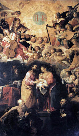 Juan De las Roelas Adoration of the Name of Jesus - Hand Painted Oil Painting