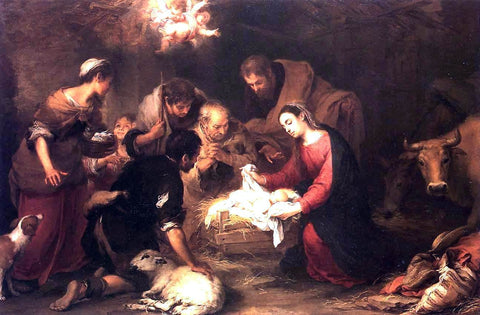 Bartolome Esteban Murillo Adoration of the Shepherds - Hand Painted Oil Painting