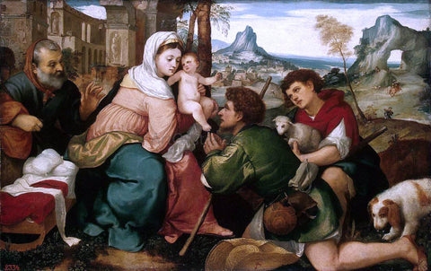 Bonifazio Veronese Adoration of the Shepherds - Hand Painted Oil Painting