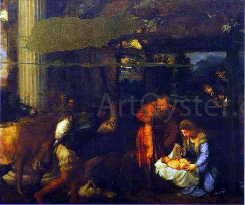 Titian Adoration of the Shepherds - Hand Painted Oil Painting