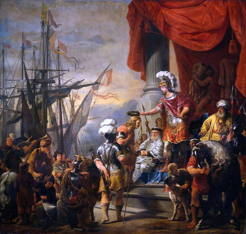 Ferdinand Bol Aeneas at the Court of Latinus - Hand Painted Oil Painting