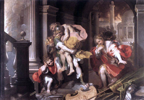 Federico Fiori Barocci Aeneas' Flight from Troy - Hand Painted Oil Painting