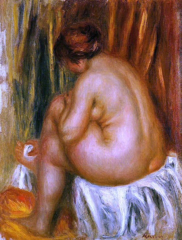 Pierre Auguste Renoir After Bathing (nude study) - Hand Painted Oil Painting