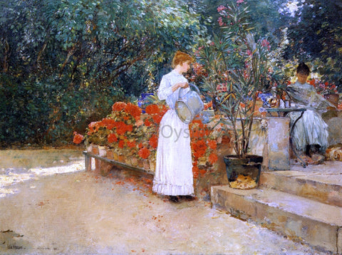 Frederick Childe Hassam After Breakfast - Hand Painted Oil Painting
