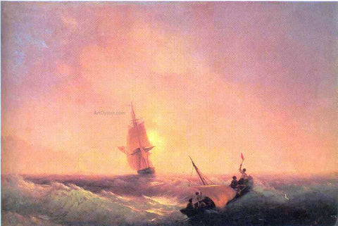 Ivan Constantinovich Aivazovsky After shipwreck - Hand Painted Oil Painting
