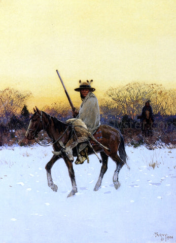 Henry F Farney After the Hunt - Hand Painted Oil Painting