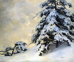 Jonas Lie After the Snowfall - Hand Painted Oil Painting