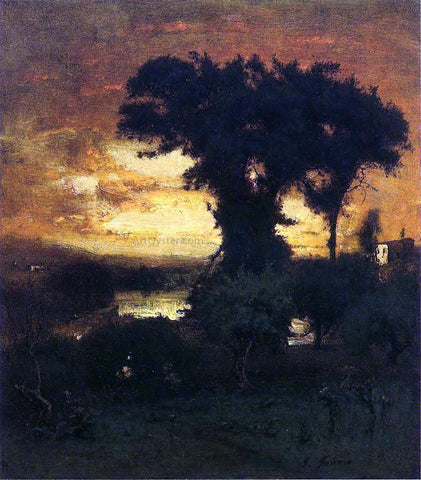 George Inness Afterglow - Hand Painted Oil Painting