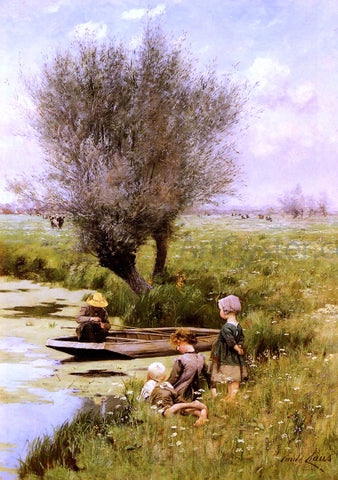 Emile Claus Afternoon Along The River - Hand Painted Oil Painting